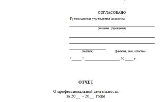 Отчет о проведенной работе в аттестационный период