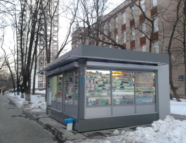 Городской продуктовый киоск